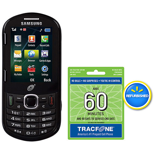 TracFone Samsung R455C Prepaid Cell Phone with 60 Minute Airtime Card, Refurbished