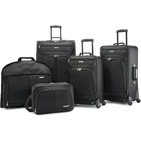 American Tourister 5 Piece Softside Luggage Set American Tourister Lightweight Suitcase
