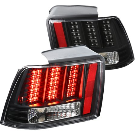 2001 Tail Light Lamp - Spec-D Tuning For 1999-2004 Ford Mustang Black Clear Sequential Led Tail Lights Brake Lamps Pair (Left+Right) 1999 2000 2001 2002 2003 2004