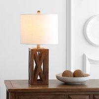 "Stewart 21.5"" Wood LED Table Lamp, Brownby JONATHAN Y"