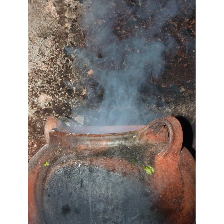 Framed Art For Your Wall Cook Witchcraft Cauldron Steam Broth Cooking Pot 10x13 Frame ()