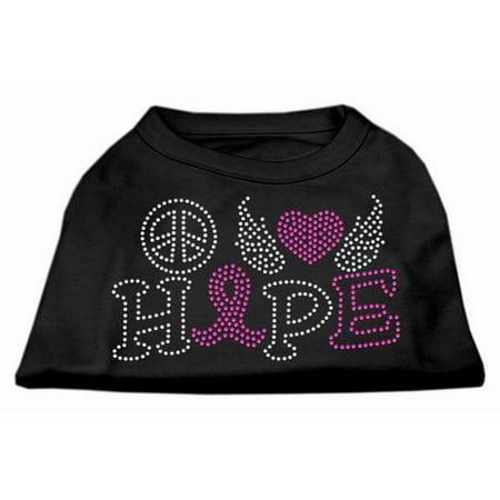 Mirage 52-97 XXXLBK Love Hope Breast Cancer Rhinestone Pet Shirt Black 3XL for $<!---->