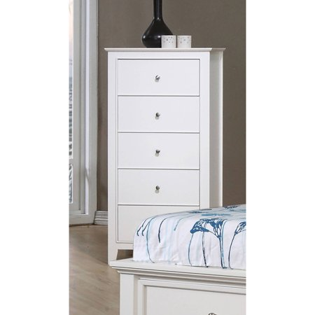 Coaster Company Selena Collection 5 Drawer Chest, White