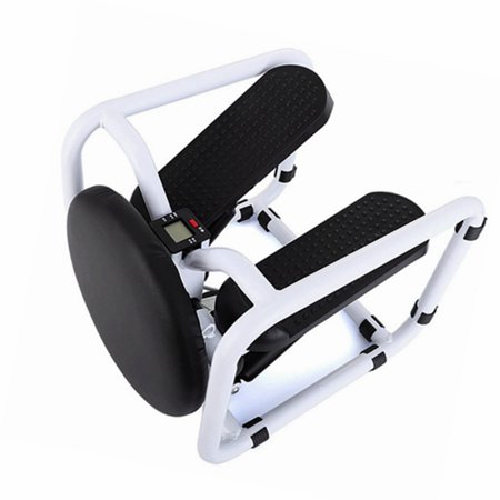 AnFeng Mini Stepper Mute Mountaineering Pedal Air Stair Climber Step Machine for Home Gym Office, with Resistance Bands and LCD Monitor, 330Lbs thumbnail