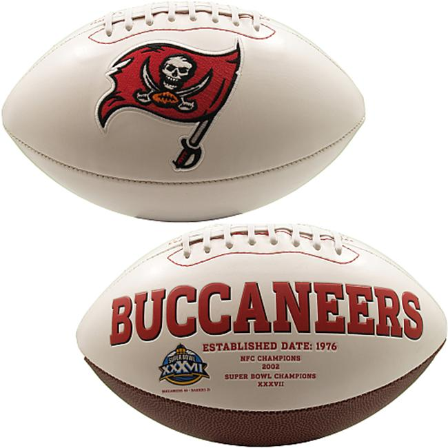 Creative Sports FB-BUCS-Signature Tampa Bay Bucs Embroidered Logo Signature Series Football