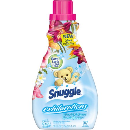 Snuggle Exhilarations Island Hibiscus & Rainflower Concentrated Fabric Softener, 50 fl oz