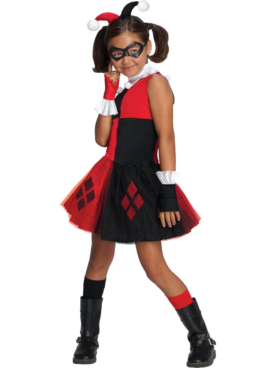 Child Girls Harley Quinn Tutu Dress Costume Set Small 4-6 by Rubies Costume Co
