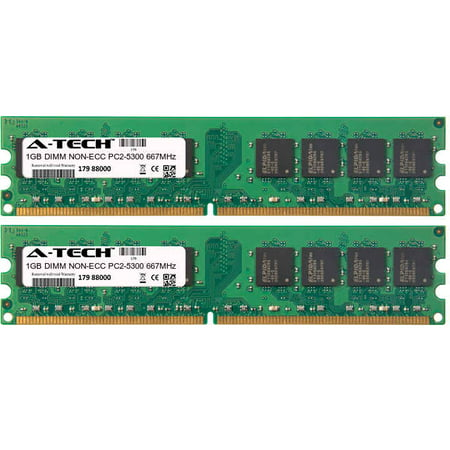2GB Kit 2x 1GB Modules PC2-5300 667MHz NON-ECC DDR2 DIMM Desktop 240-pin Memory - Pc25300 Non Ecc 240 Pin