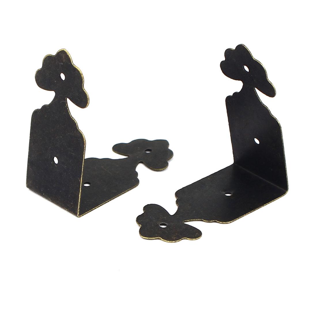 A16032800ux0978 40 x 18 mm en forme de L en bois de style antique Bo te cadeau Bordure meubles – Bronze Tone (20 pièces) - image 1 de 2
