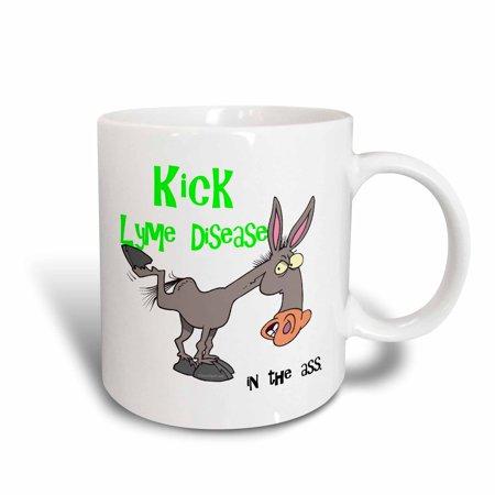 3dRose Kick Lyme Disease In The Ass Awareness Ribbon Cause Design, Ceramic Mug, 11-ounce - Als Awareness Ribbon