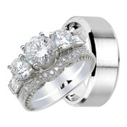 his and hers wedding ring set matching wedding bands for him and her 6 - Wedding Rings For Her