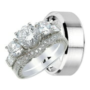 his and hers wedding ring set matching wedding bands for him and her 6 - Wedding Ring Set For Her