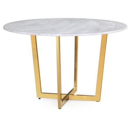maxim white marble dining table - White Marble Dining Table