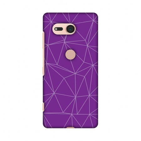 - Sony Xperia XZ2 Compact Case - Carbon Fibre Redux Electric Violet 4, Hard Plastic Back Cover, Slim Profile Cute Printed Designer Snap on Case with Screen Cleaning Kit