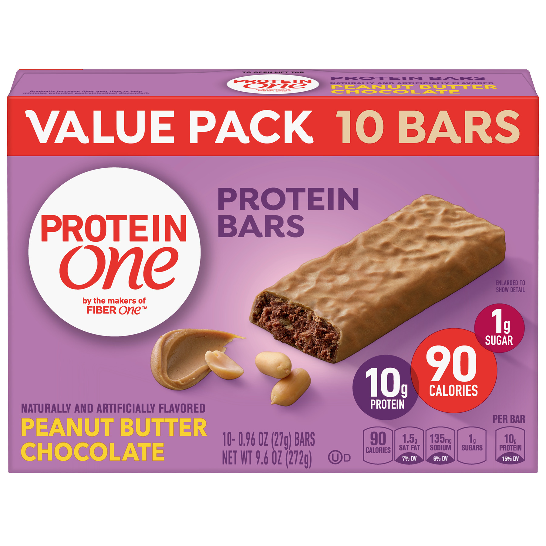 Protein One 90 Calorie Peanut Butter Chocolate 10 ct, 9.6 oz