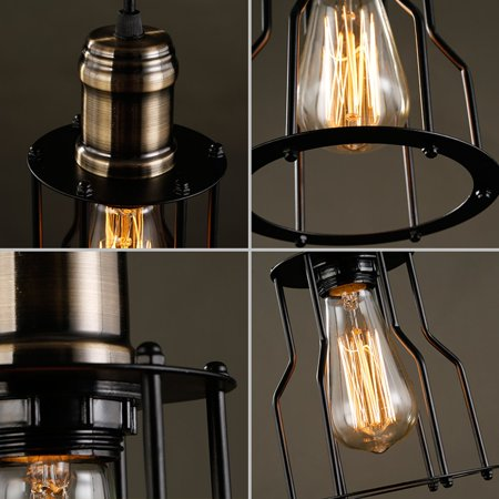 Industrial Vintage Metal Pendant Lamp Steampunk Ceiling Chandelier Light Decor Walmart Canada