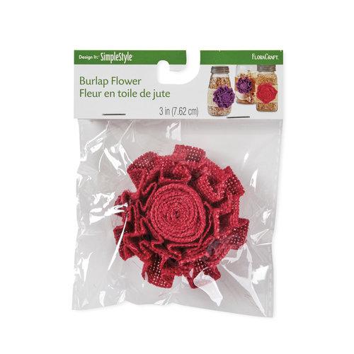"Design It: SimpleStyle Burlap Flower, 4"""