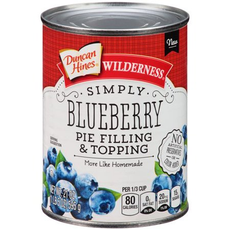(3 Pack) Wilderness Simply Blueberry Pie Filling & Topping, 21