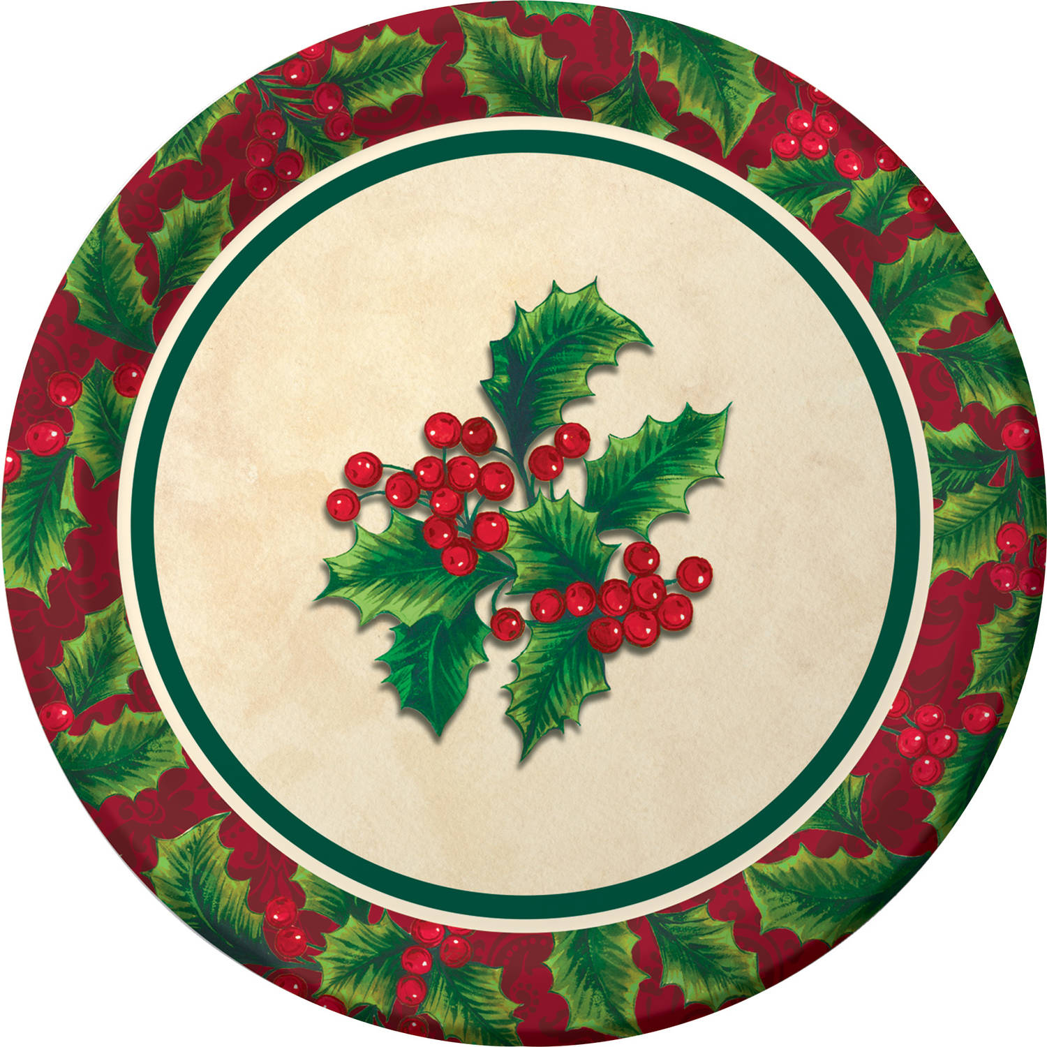 Boughs of Holly Dessert Plates, 8-Pack