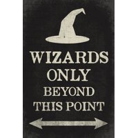 Wizards Only Beyond This Point, Harry Potter Poster
