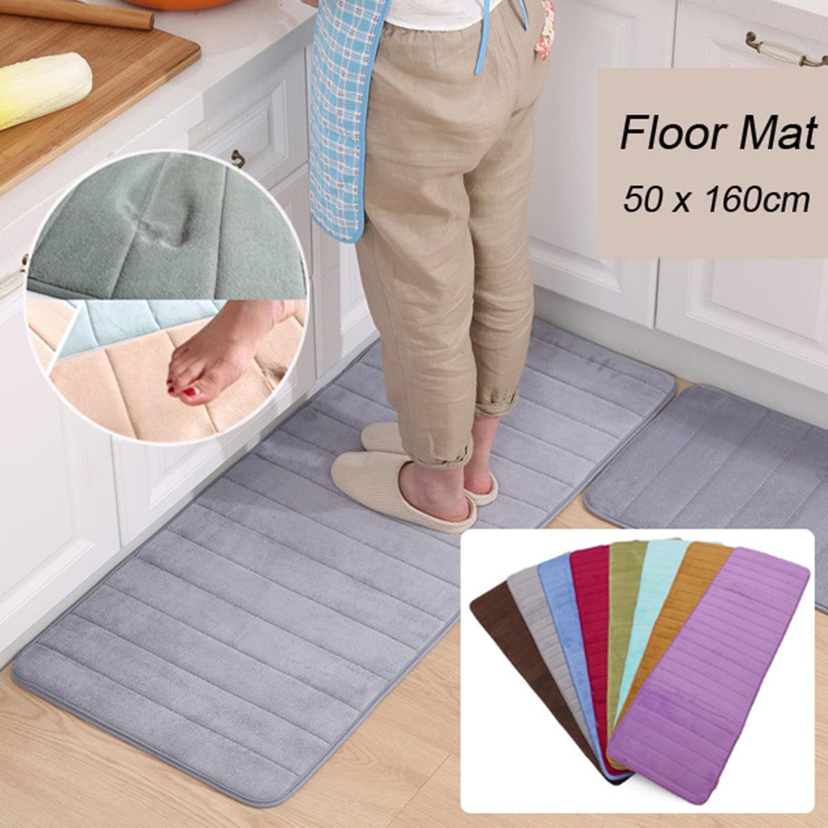 Bath Shower Mat Non Slip Home Floor Pad Memory Foam Rug Soft Cosy 50*160cm