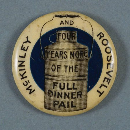 Mckinley and Roosevelt Campaign Button Print Wall Art By David J. Frent