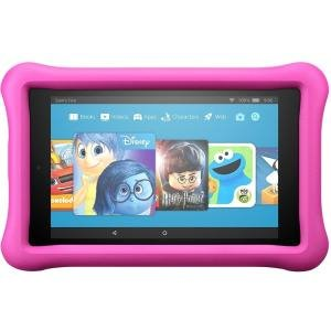 Amazon All New Fire 7 Kids Edition Tablet  7  Display  16 Gb  Blue Kid Proof Case   Pink  Black   16 Gb   1 Gb   Quad Core  4 Core  1 30 Ghz   Fire Os 5 3   1024 X 600   Wireless Lan   Bluetooth