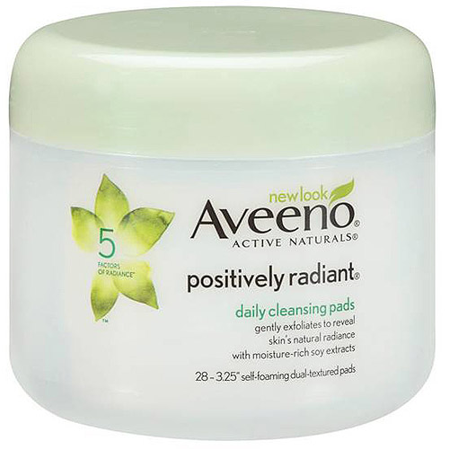 Aveeno(R) Positively Radiant(R) Daily Cleansing Pads Jar Cleansers 28 Ct