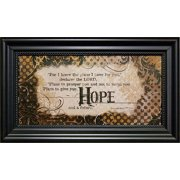 Framed Art-Hope/For I Know The Plans (14 x 8)
