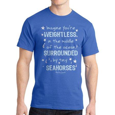 Napoleon Dynamite Imagine Seahorse Men's Royal Blue Funny T-shirt NEW Sizes S-2XL