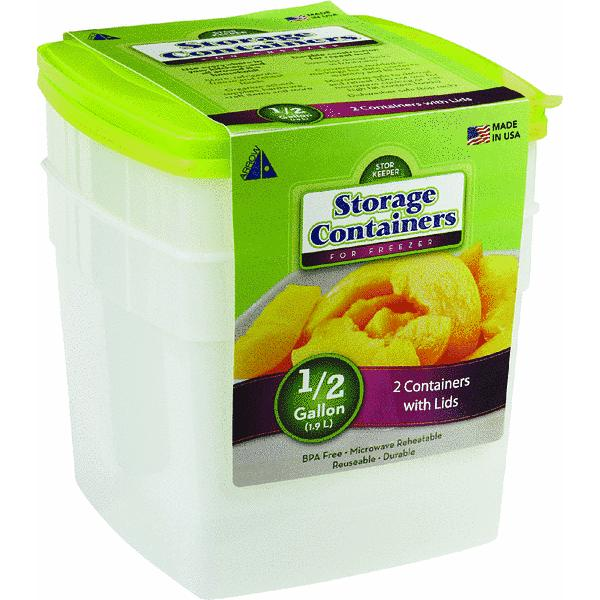 Stor Keeper Freezer Square Food Storage Container