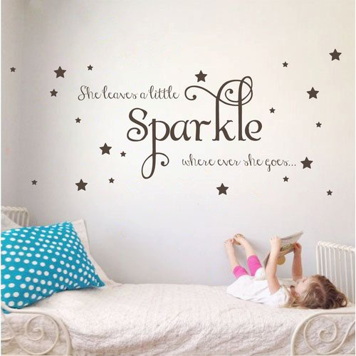 The Decal Guru Sparkle Wall Decal