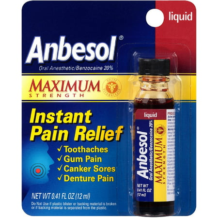 Anbesol Maximum Strength Oral Anesthetic Liquid 0.41 fl