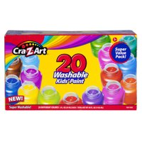 Cra-Z-Art Super Washable Kids Paint, 20 Pack