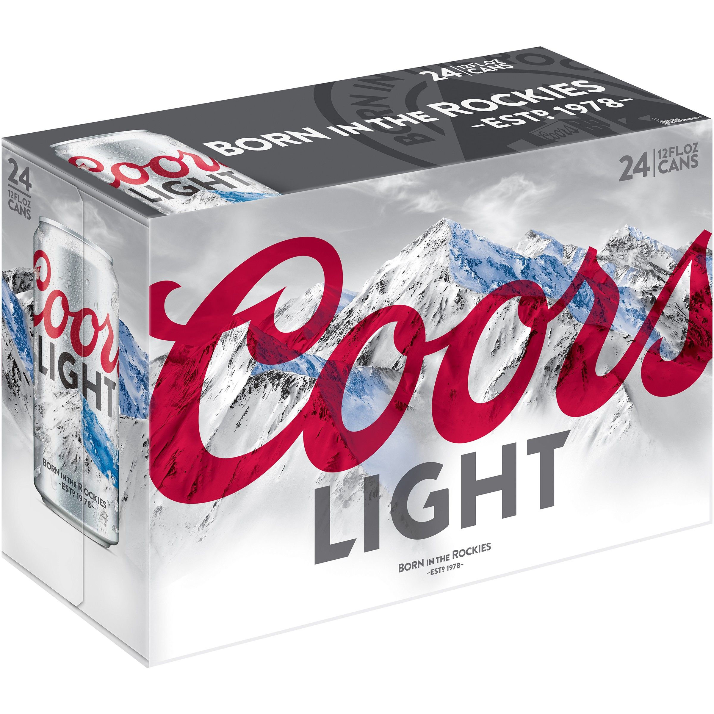 Coors Light Beer 24 12 Fl Oz Cans Walmart Com