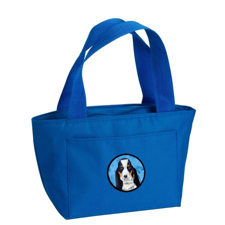 Blue Basset Hound Lunch Bag or Doggie Bag LH9374BU