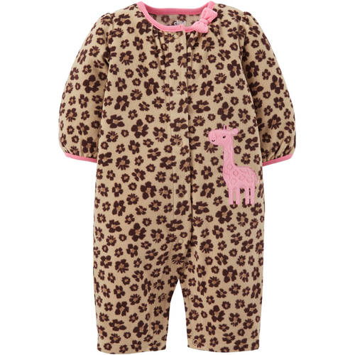 Child Of Mine by Carter's Newborn Baby Girl Fleece Jumpsuit