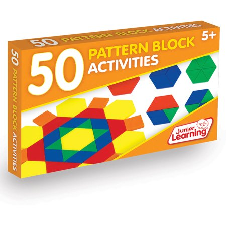 Junior Learning 50 Pattern Block Activities Learning - Pattern Blocks