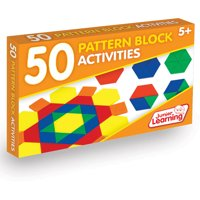Junior Learning 50 Pattern Block Activities Learning Set