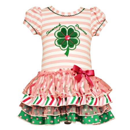 Bonnie Jean Baby Girls Shamrock Princess St Patricks Dress 18 months - St Patrick's Day Dress