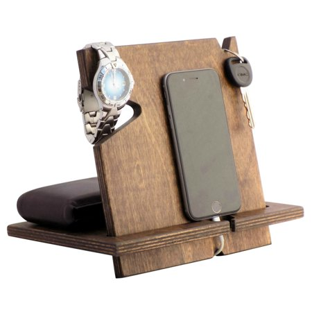 Universal Wood Cell Phone Docking Station-Espresso