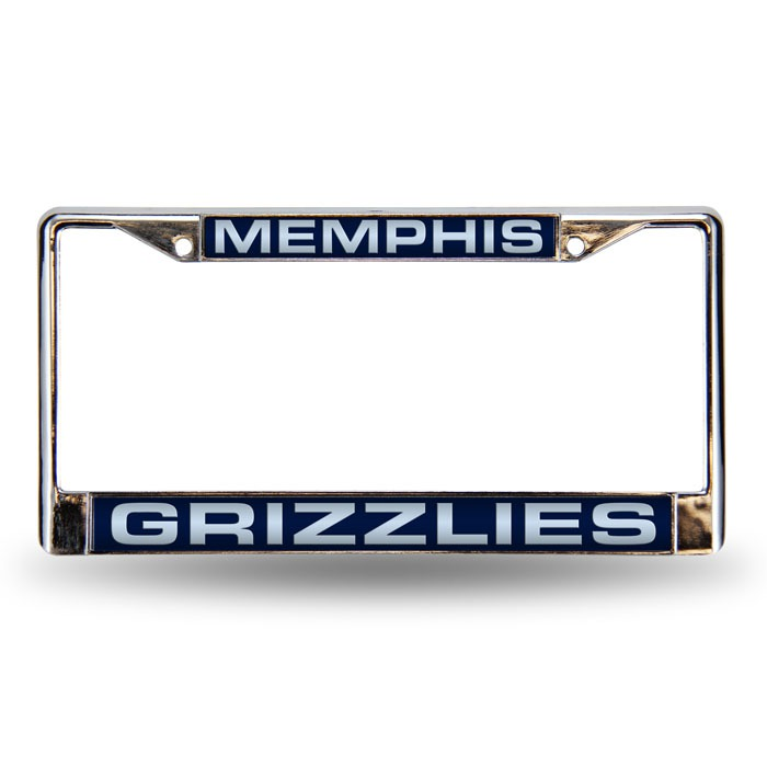 Memphis Grizzlies Laser Chrome License Plate Frame