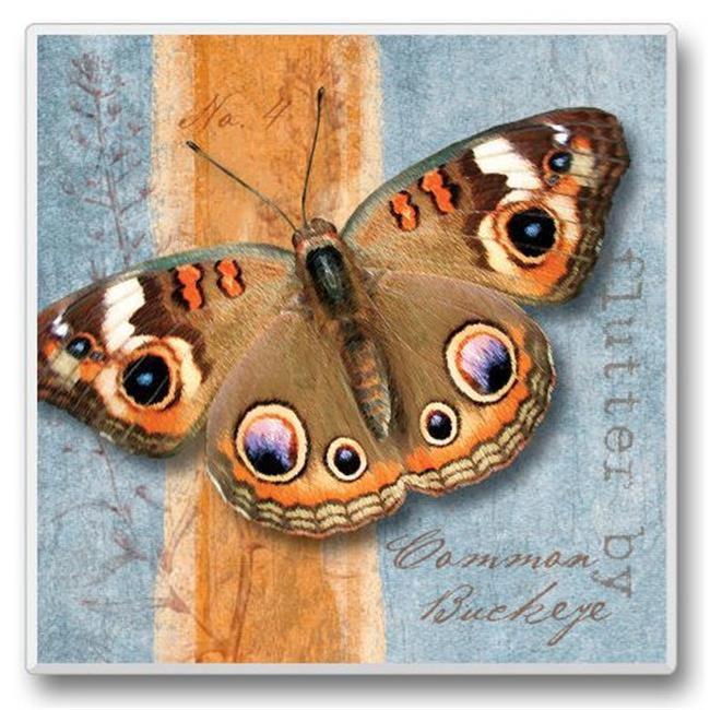 Highland Graphics HG02228 Flutter By Coasters - Brown Butterfly
