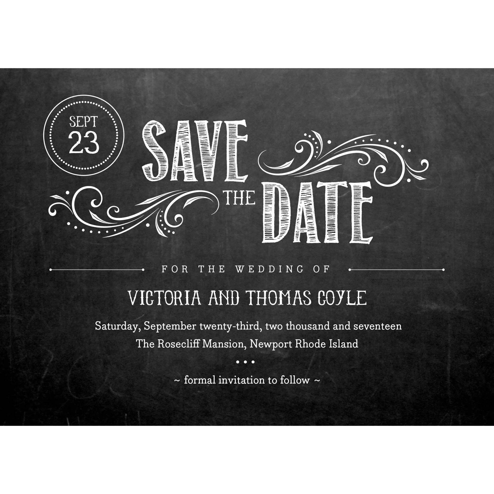 Chalkboard Union Standard Save the Date