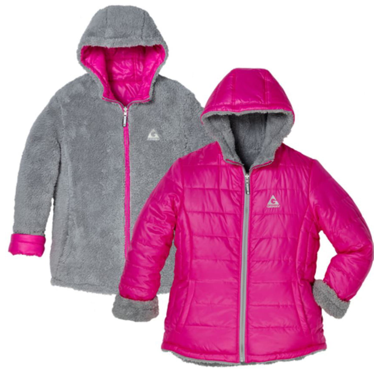 GIRLS GERRY DOWN SWEATER JACKET HOODED DOWN COAT