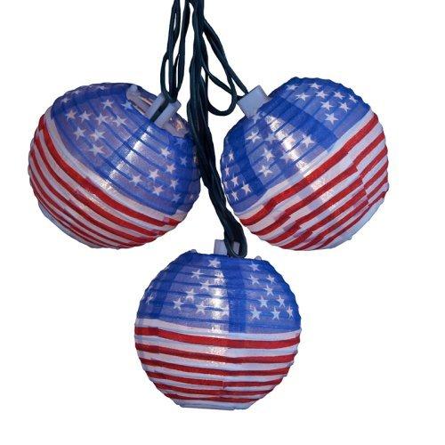 Kurt Adler 3 in. USA Flag Lantern 10 ct. Light Set