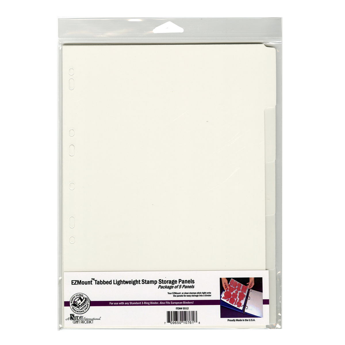 "EZMount Tabbed Lightweight Stamp Storage Panels 5/Pkg-8.25""X11.75"