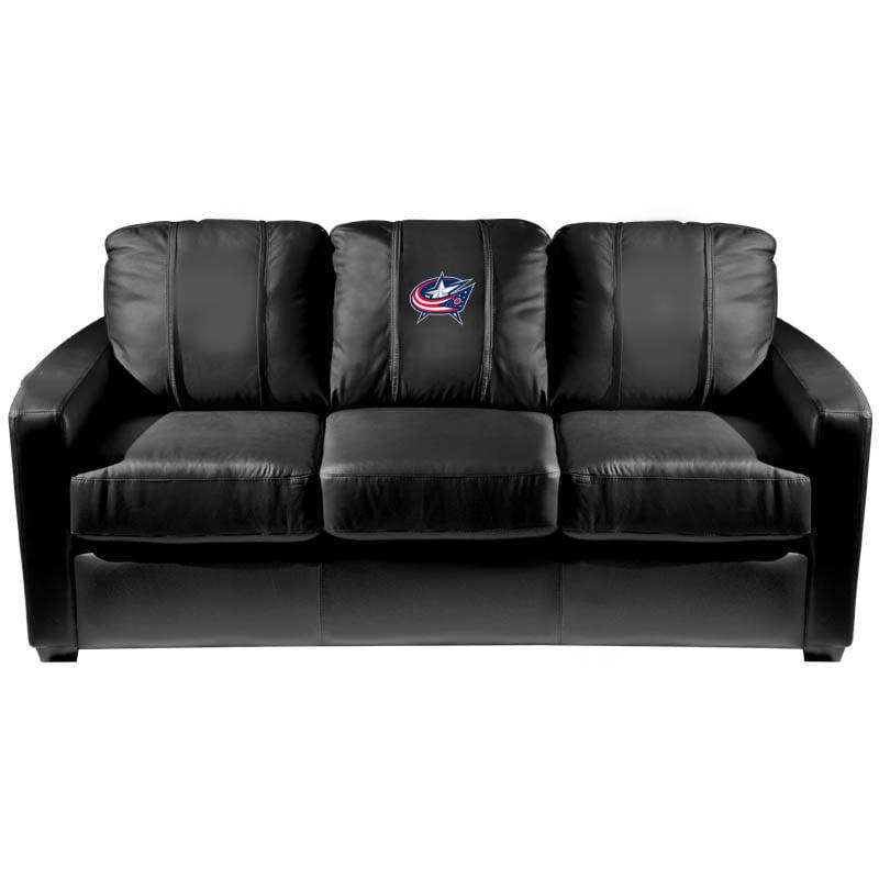 Columbus Blue Jackets NHL Silver Sofa