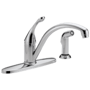 Collins Single Handle Kitchen Faucet with Spray in Chrome 440-DST