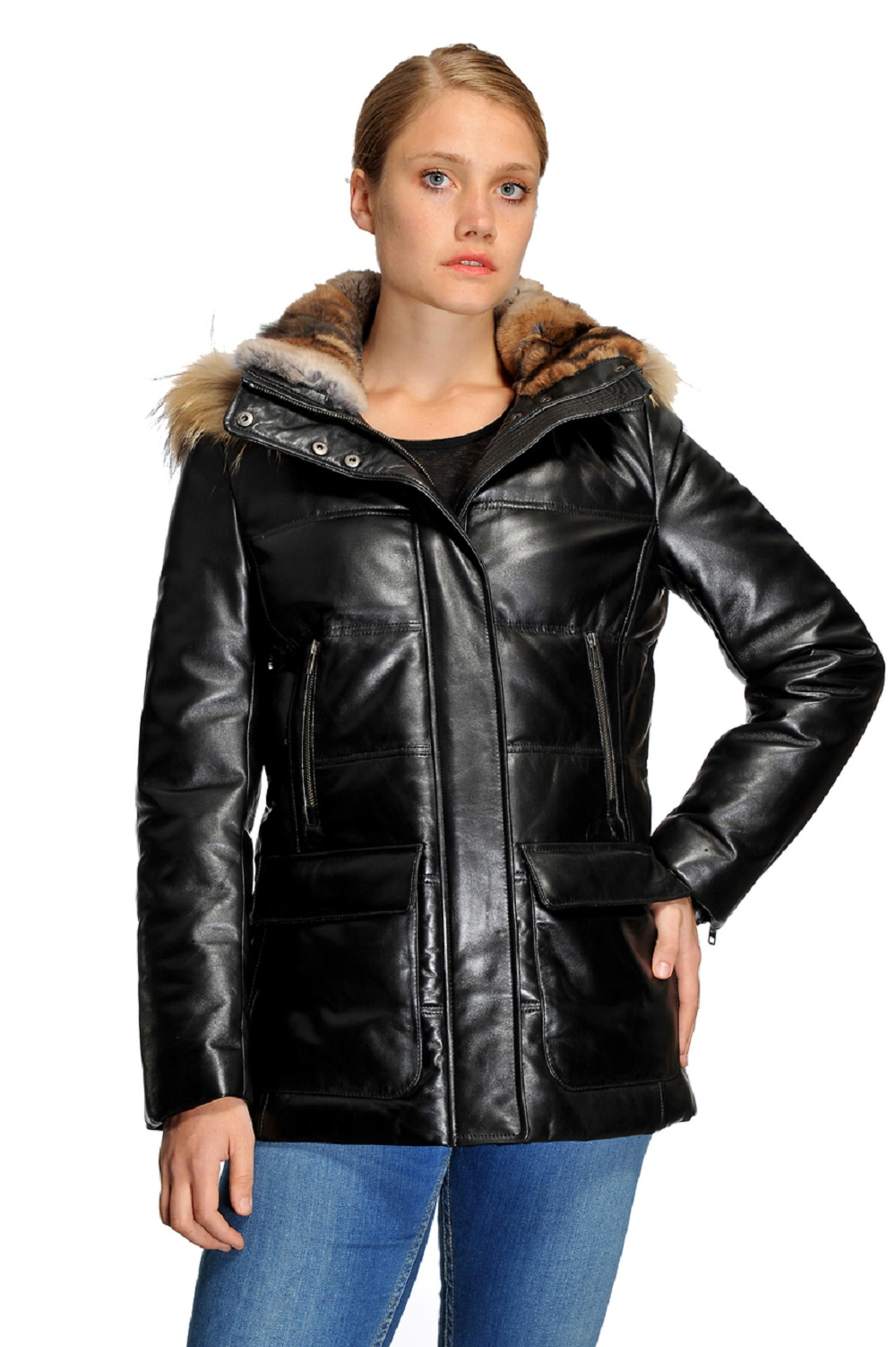 Original Goose Emily Leather Down Filled Parka by